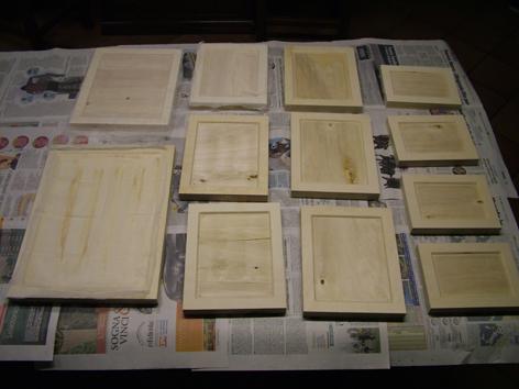 Seconda fase: la tavola di legno